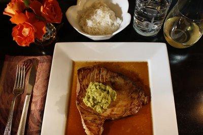 Yellowfin Tuna, Avocado Pineapple Mash