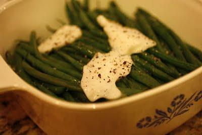 Haricots Verts with Goat Butter, Sublime!