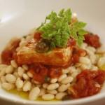 Braised Swordfish, White Beans