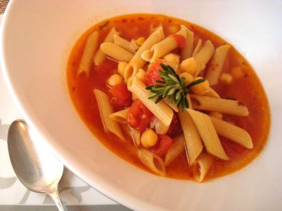 ... Great VEGA'N VEGETARIAN Project: High Fiber Pasta e Ceci, Soup-Style