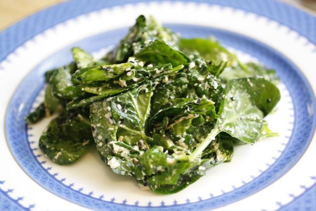 Garlicky Tahini Wilted Spinach - Taste With The Eyes Taste With The ...