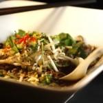 Noodle Soup with Shiitake & Moroheiya