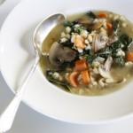 Mushroom, Barley, Kale, Carrot