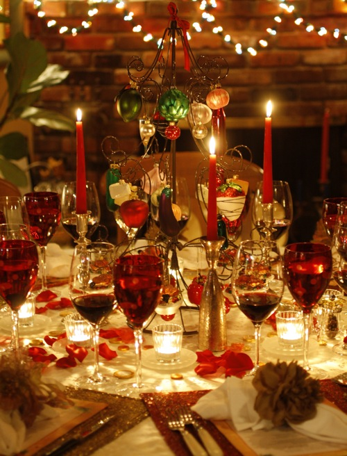 a foodie christmas dinner party taste with the eyes