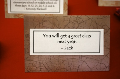 you will get a great class next year