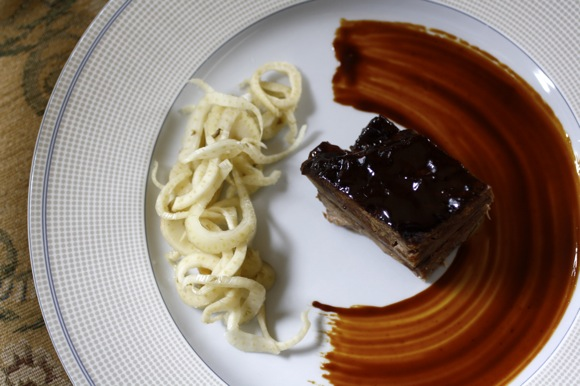 lacquered brisket of beef, pickled fennel, recipe