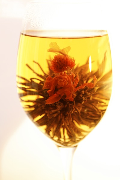 display tea, blooming heart display tea