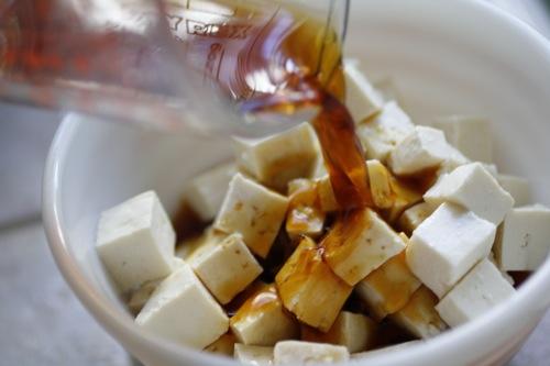 marinated tofu, tofu & tamari, cubed tofu