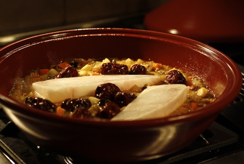 tagine, halibut tagine