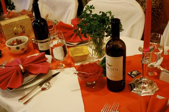 seder table with maror