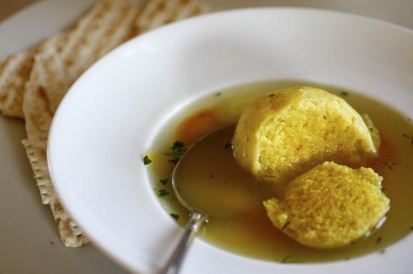 matzoh ball soup, saffron matzoh ball, saffron