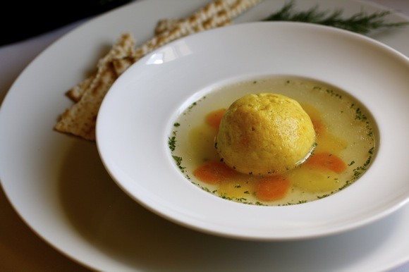 matzoh ball soup, saffron matzoh balls