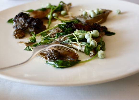 chicago's blackbird restaurant, black bean agnolotti