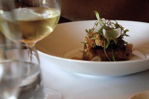 chicago's blackbird restaurant, pork rib chop