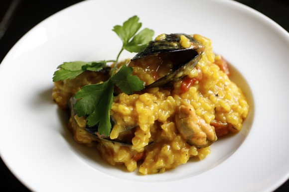 risotto con le Cozze, risotto with fresh mussels