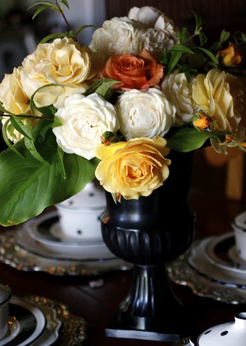 rose arrangement, rose bouquet, julia child rose