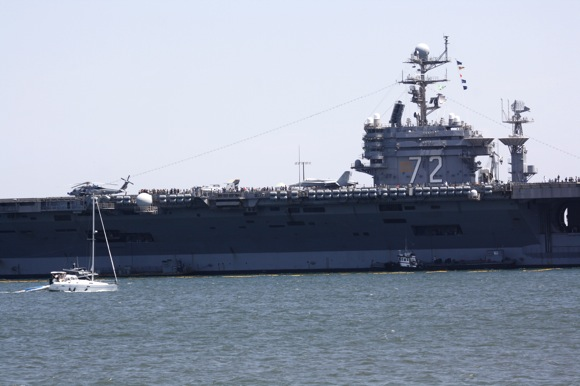 uss abraham lincoln, port of los angeles