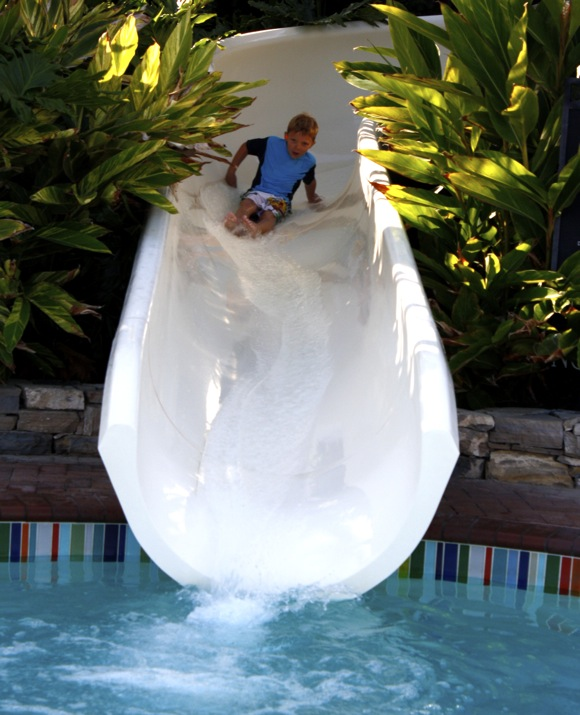 pool slide @ terranea