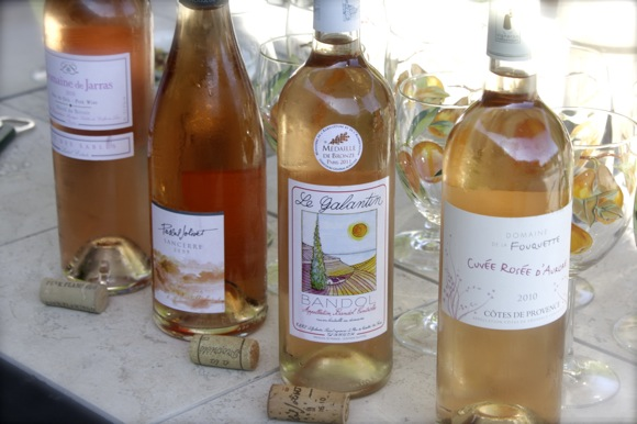 french pinks wine, rosé