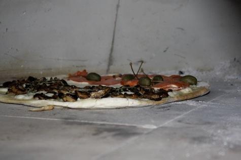 pizza oven interior