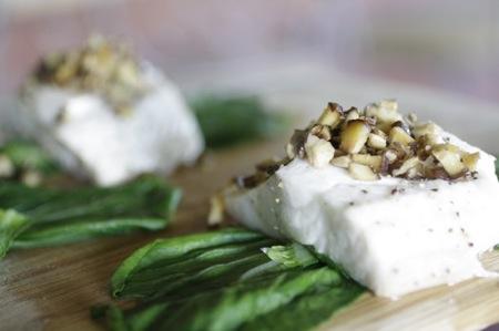 steamed sablefish, bok choy