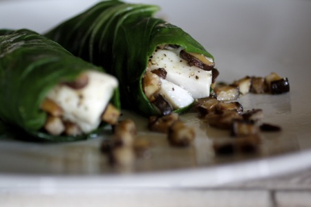 cod wrapped in bok choy