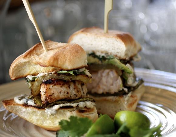 baja fish torta, swordfish sandwich