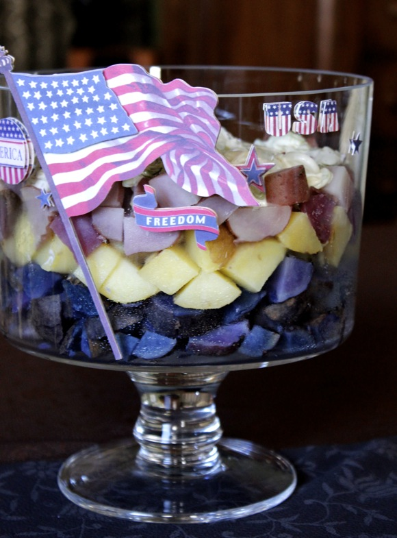 Patriotic Potato Salad Trifle - Taste With The Eyes