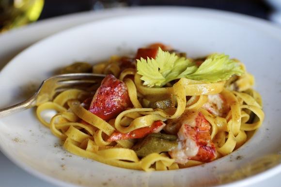 Lobster & Okra Fettuccine, Gumbo Sauce