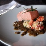 old fashion poached salmon