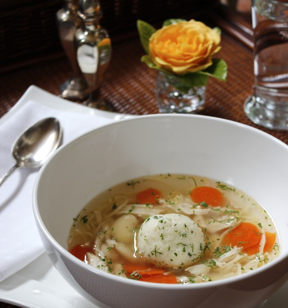 Homemade Matzo Ball Soup Photo