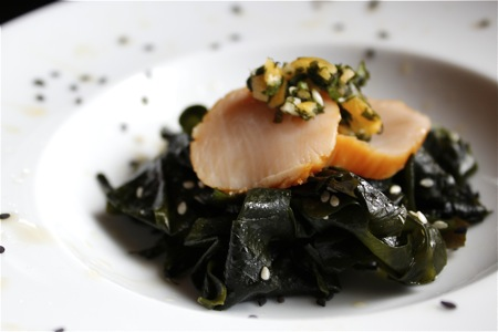 wakame and scallop