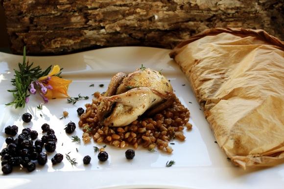 quail and matsutake