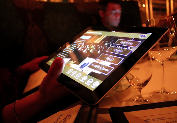 Andre's ipad wine list
