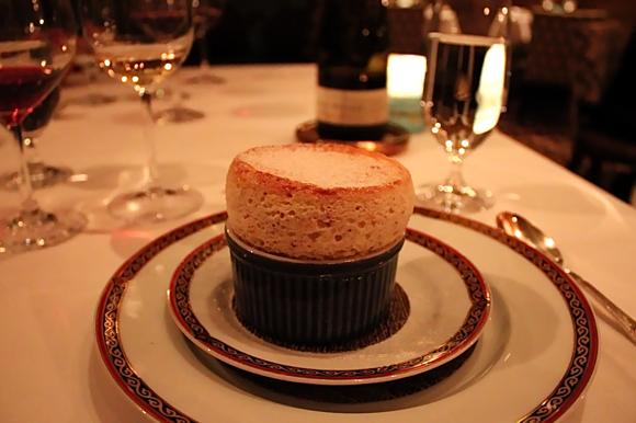 andré's carrot cake & walnut souffle