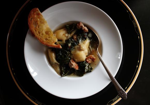 elegant tuscan kale soup