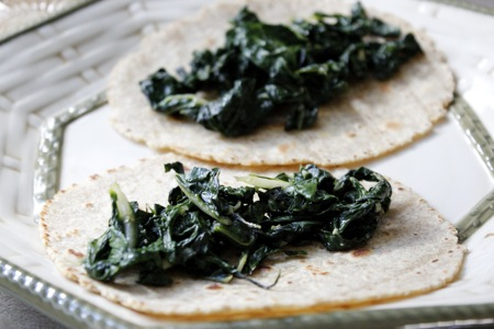 green chard taco