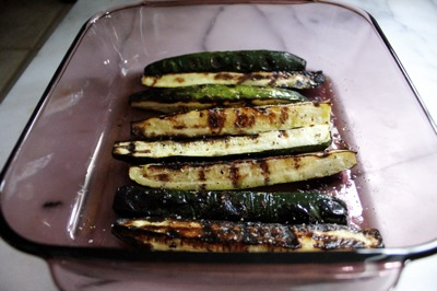 grilled zucchini batons