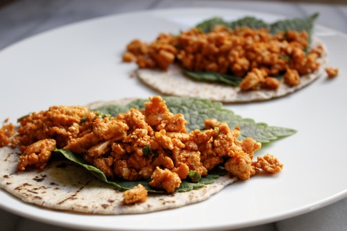 korean tacos, sesame leaf