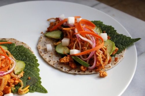 veggie korean tacos