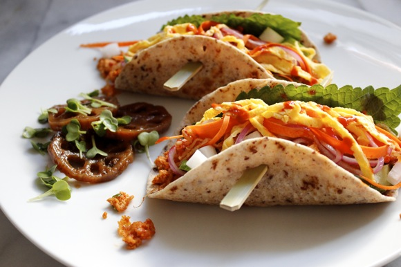 vegetarian korean tacos