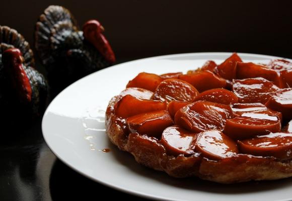 persimmon tarte tatin