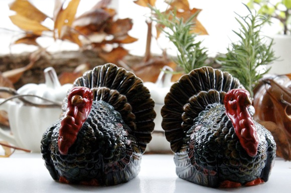 turkey salt & pepper shakers