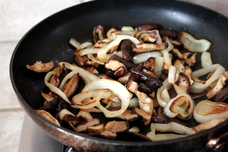 shiitake and onion