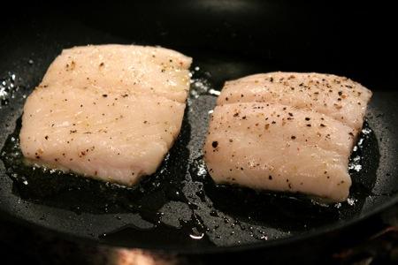 crisp-skin black cod recipe