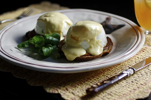 no-cholesterol eggs benedict