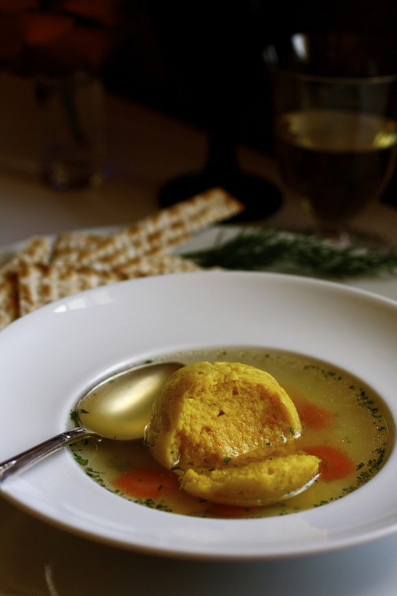 saffron matzoh ball soup