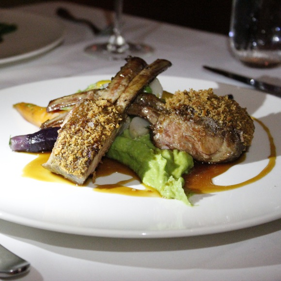 hatfield's date and mint crusted lamb