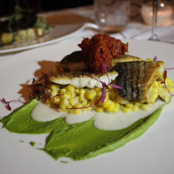hatfield's pan roasted striped bass