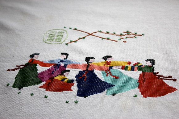 korean embroidered tablecloth